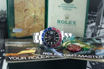 Vintage Rolex 16750  - GMT Master - Complete set with Punched Papers
