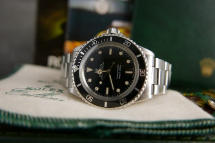 Vintage Rolex Glossy 5513 Submariner non date - 1987