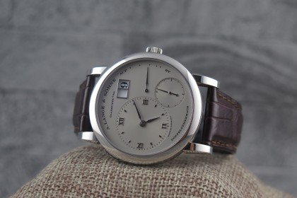 Modern A.Lange & Sohne Lange 1, 101.025 platinum Full set, Rhodium dial, 2014 Full set