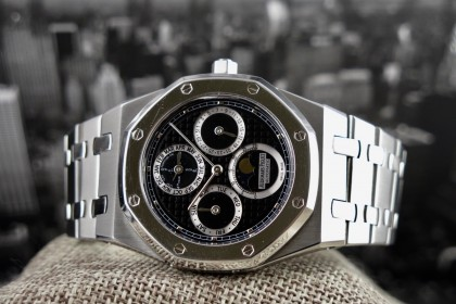 Modern Audemars Piguet Royal Oak 25820SP Perpetual Calendar Black Dial