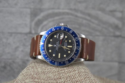 Vintage Rolex 1675 Radial dial GMT Master with Blueberry Insert/Provenance