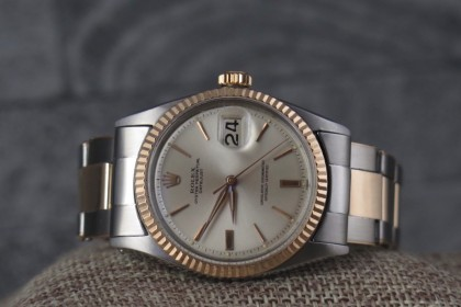 Vintage Rolex 1601 Steel & Rose Gold Datejust with beautiful Rivet Bracelet