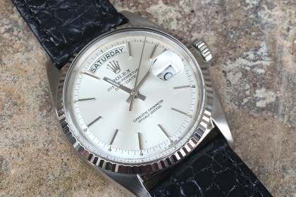 Vintage Rolex 1803 White Gold Day Date
