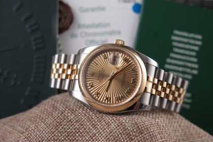 Modern Rolex Datejust 116203 Bi Metal - Z serial Box & papers