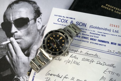 Vintage Rolex 1665 MK3 Double Red Sea Dweller with provenance