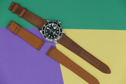 Straps 20mm Brown French Calfskin Strap leather Strap