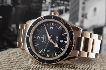 Modern Omega Omega Sea-Master 300 Rose Gold Full Set March 2017
