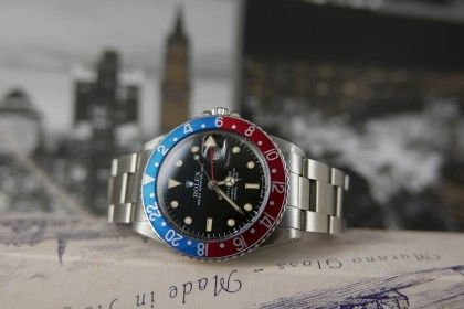 Vintage Rolex Rolex GMT Master 16750 Gloss dial, Amazing Patina