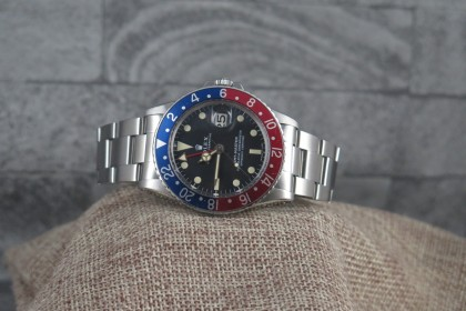 Vintage Rolex 1675 GMT-Master, MK2 Dial with creamy patina