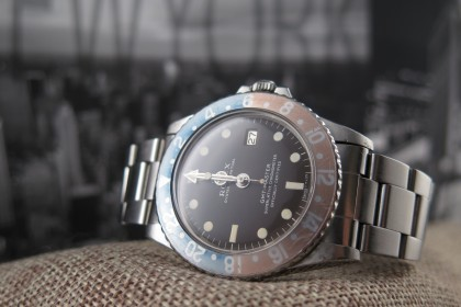Vintage Rolex GMT Master 1675 Long E TROPICAL dial 1967 STUNNING