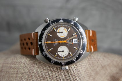 Vintage Heuer Autavia 1163MH Orange Boy-Tropical dial