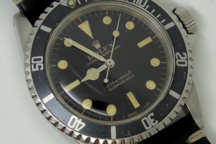 Vintage Rolex Gilt Dial 5513 Submariner 1964