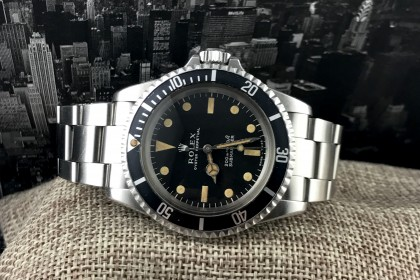 Vintage Rolex 5513 Meters First Submariner - 1967