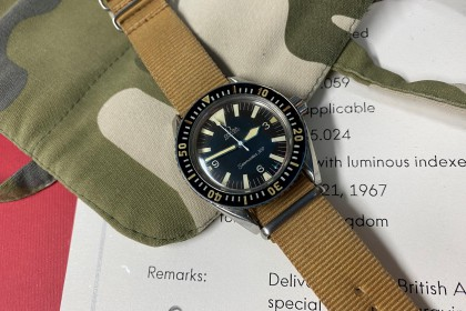 Vintage Omega Omega Seamaster 300 Military Issued with archive papers