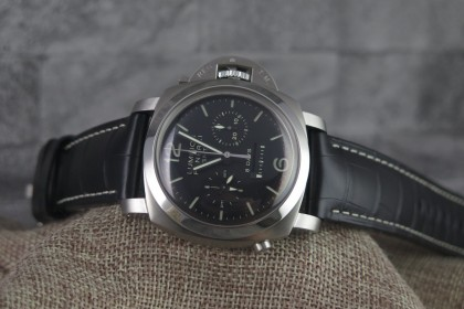 Modern Panerai Luminor 1950 8 Days Chrono Monopulsante GMT UNWORN