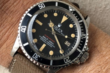 Vintage Rolex MK4 1680 Red Writing Submariner