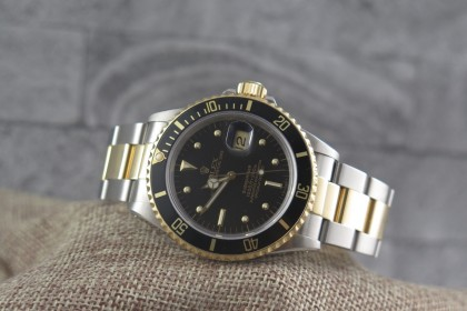 Vintage Rolex 16803 Bi Metal Submariner Date-Nipple Dial-Collectors Set
