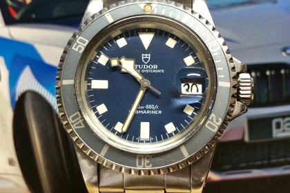 Vintage Tudor 94110 Snow Flake with Stunning Blue Dial