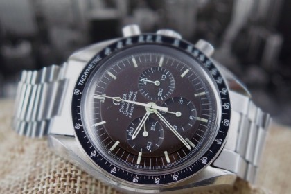 Vintage Omega Speedmaster Moon watch 145022-69 with stunning Tropical dial