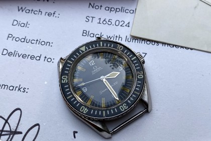 Vintage Omega Omega 300 ST 165.024 with Extract of the Archives